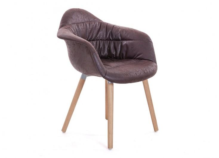 chaise scandinave mankel tissu vintage marron