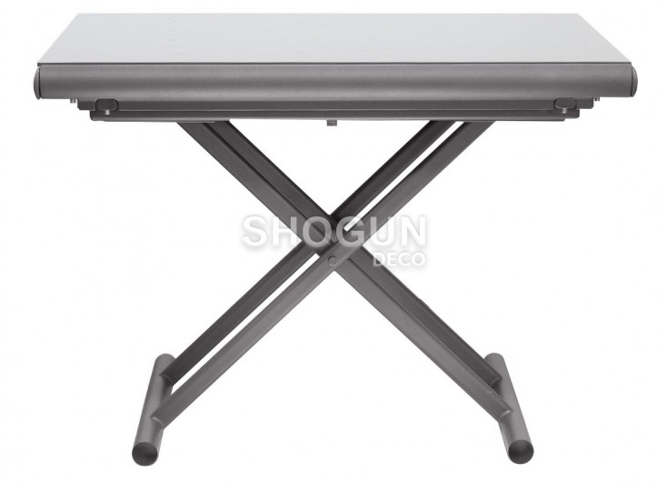 table basse extensible relevable gris