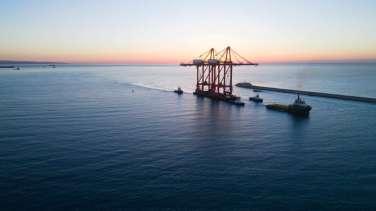 new bigger gantry cranes for Limassol