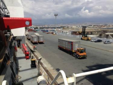 loading of mobile generators limassol port
