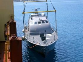 Patrol boats discharge Limassol port