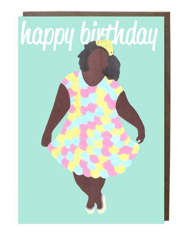 birthday girl crown greeting card Sweet Design Studio