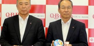 三宅宏和社長(右)と中島雅一専務(六甲バター)