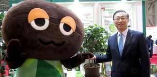 品田英明社長(右)-味の素AGF社