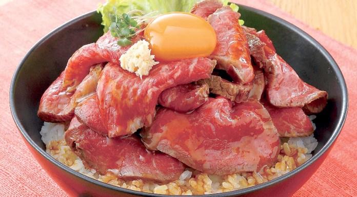 ローストビーフ丼(エバラ食品 赤身肉用調味料活性化)