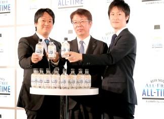(右から)大津亮氏、山田賢治社長、加藤悠一氏(サントリービール)