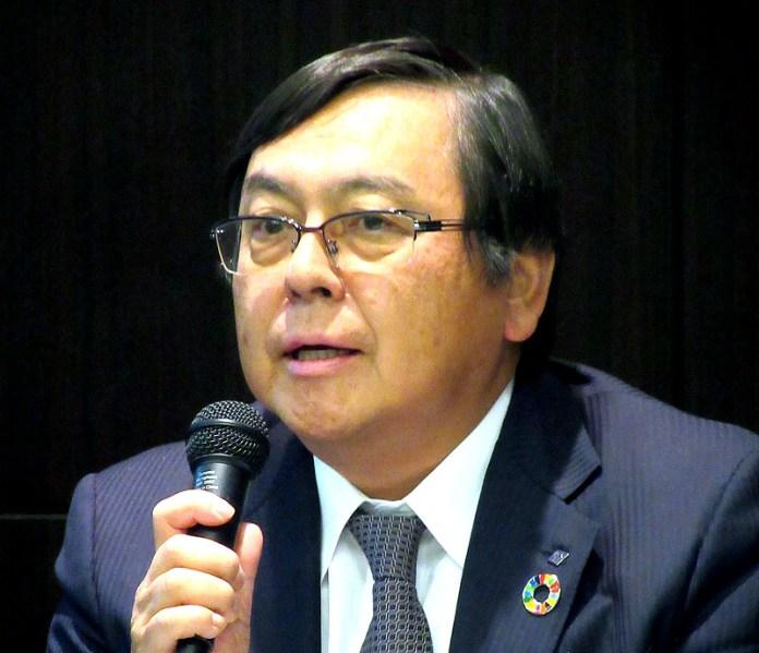 ESG経営の重要性を語る清水洋史社長(不二製油グループ本社)