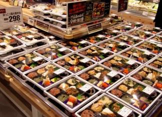 充実の弁当コーナー(イオンフードスタイル中崎町店)