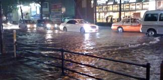 大雨被害 水の争奪戦