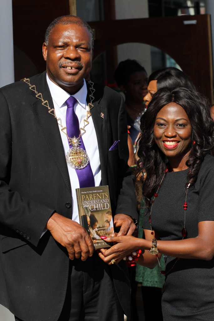 His Worshipful the Mayor of the Royal Borough of Greenwich, Councillor Olu Babatola endorses the book 'Parents Understand your Child.' by Shola Alabi.