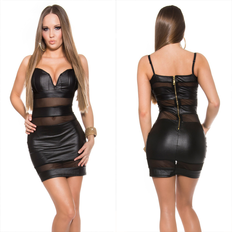 c0a66bed1e KouCla wetlook bustier mini dress - Sholox Online Womens Store