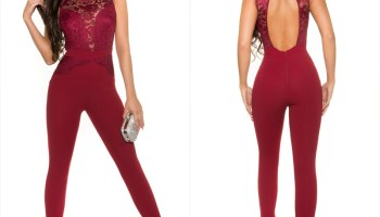 fdd7fae048d9 Women s jumpsuit with lace - Sexy womens jumpsuits shop