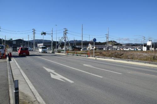 南三陸のメイン道路