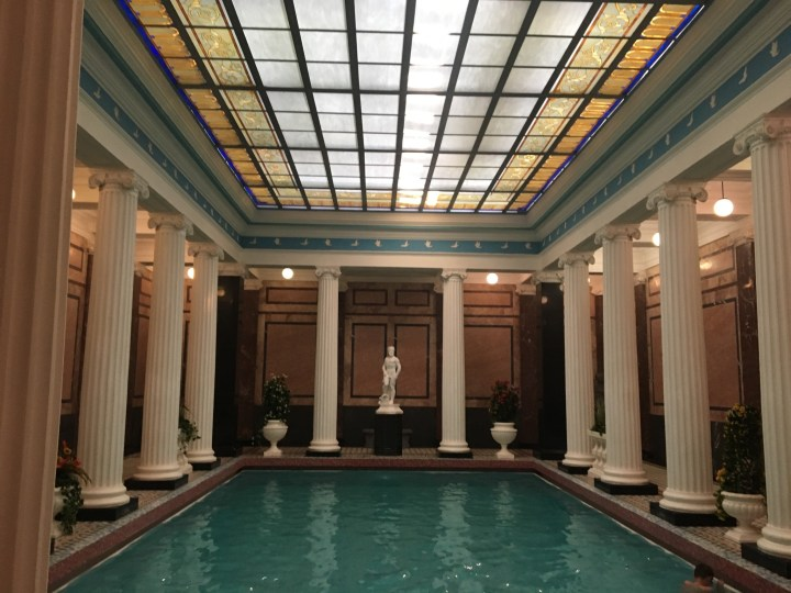 The cool-off pool at Sanduny