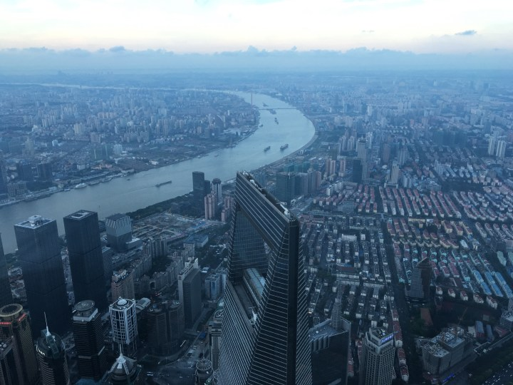View from the top of the Shanghai Tower