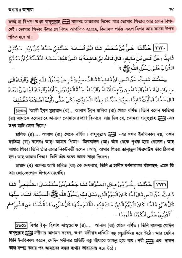 ফাতিমা ও মৃত্যুশয্যায় মুহাম্মদ