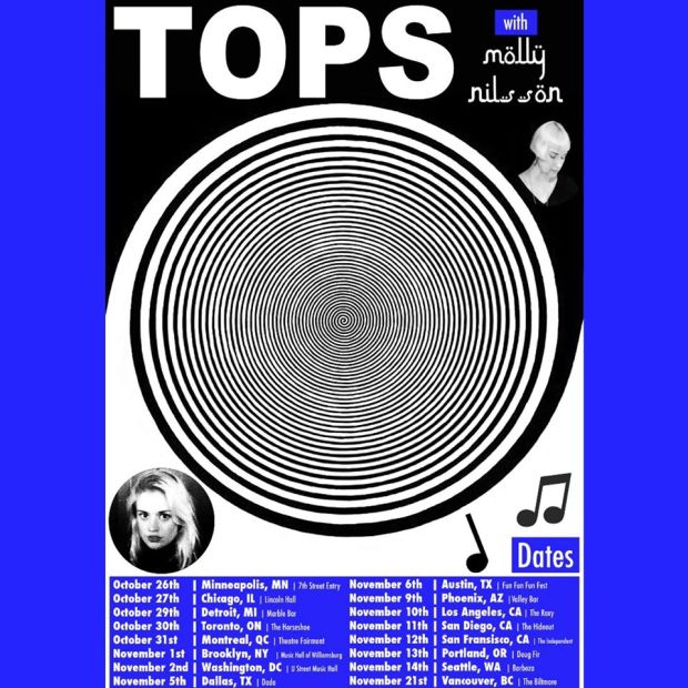 Cartel con la gira de TOPS