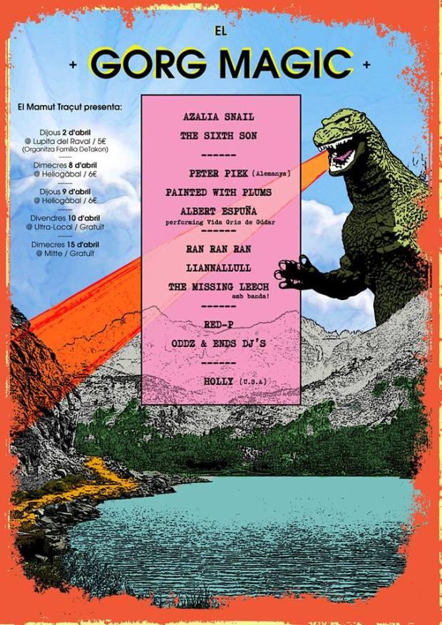 Cartel del Gorg Màgic Festival, diseñado por Edu Mató