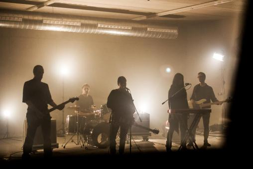Un momento de la grabación del videoclip