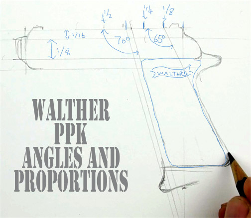 How To Draw A Walther Ppk James Bonds Gun Shoo Rayner Author