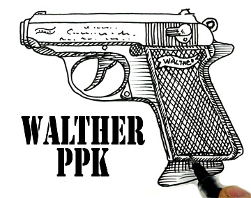 How to draw a Walther PPK