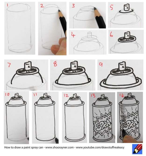 How To Draw A Spray Paint Can Shoo Rayner Everyone Can Draw