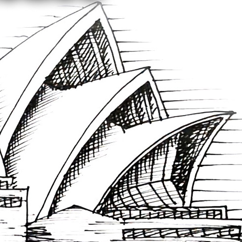How to Draw the Sydney Opera House | Shoo Rayner