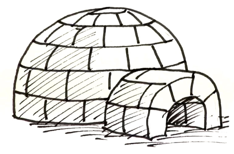 How to draw an Igloo | Shoo Rayner