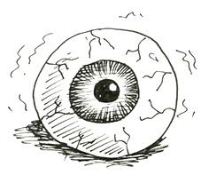 How To Draw A Scary Eyeball Shoo Rayner Author