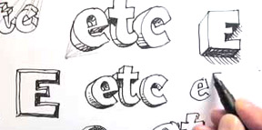 Draw-3D-lettering-Small