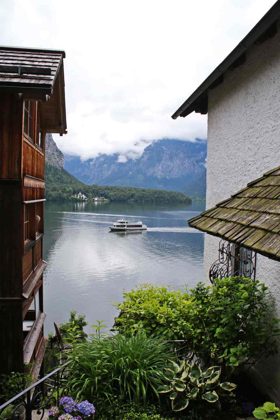 A view of the ferry boats on Lake Hallstatt