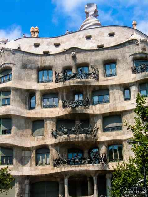 Gaudi's La Pedrera building details