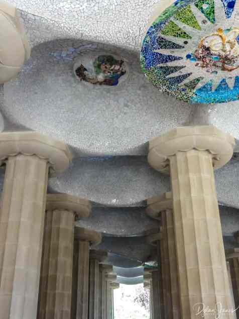 Covered walkway in Parc Guell