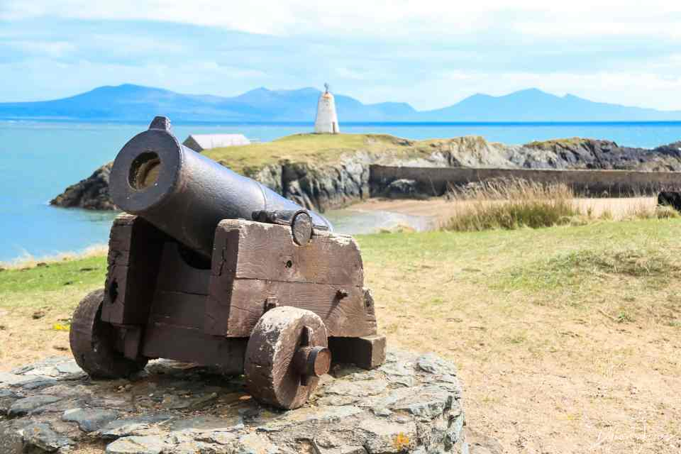 Cannon that would have been used to summon the lifeboats Llanddwyn Island