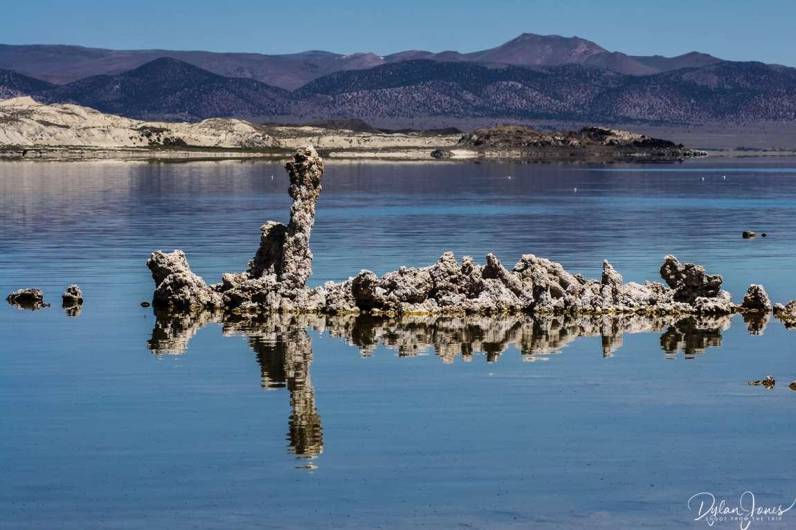 Eastern Sierra perfect reflections on Mono Lake