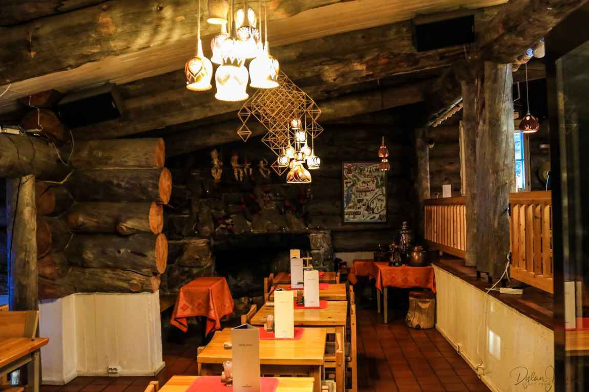 Restaurant interior at Kakslauttanen East Village