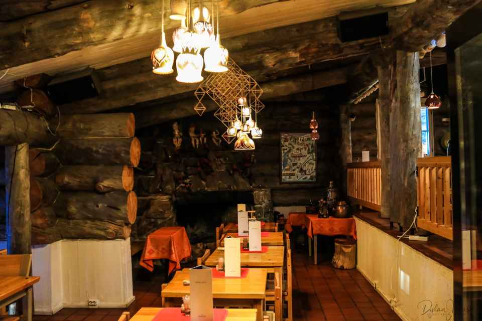 Restaurant interior at Kakslauttanen East Village