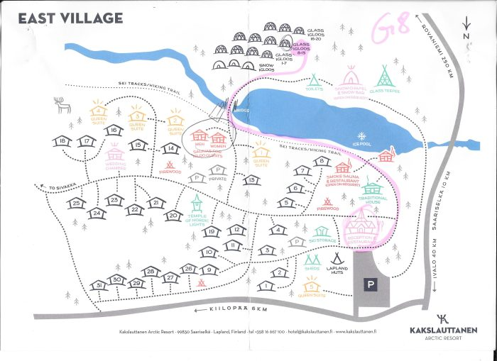 Map of Kakslauttanen East Village