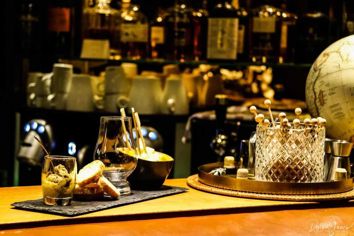 Complimentary bar snacks at the Saint James' Bar, Hotel Carlton Lille