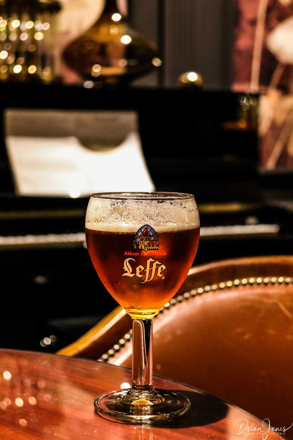 A Belgian Leffe beer at the Saint James' Bar, Hotel Carlton Lille