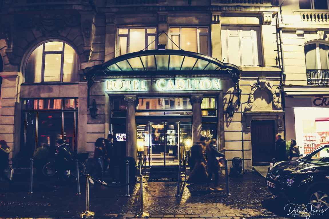 Entrance to the Hotel Carlton Lille on the Rue Pierre Mauroy