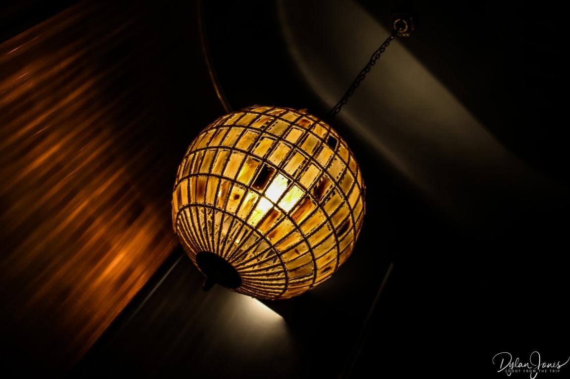 Lighting feature in stairwell at the Hotel Carlton Lille