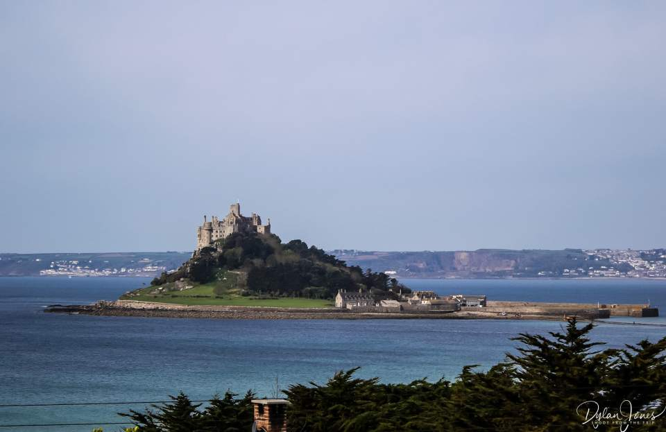 Perfect views of St. Michael's Mount from the Mount Haven Hotel, South Cornwall coast