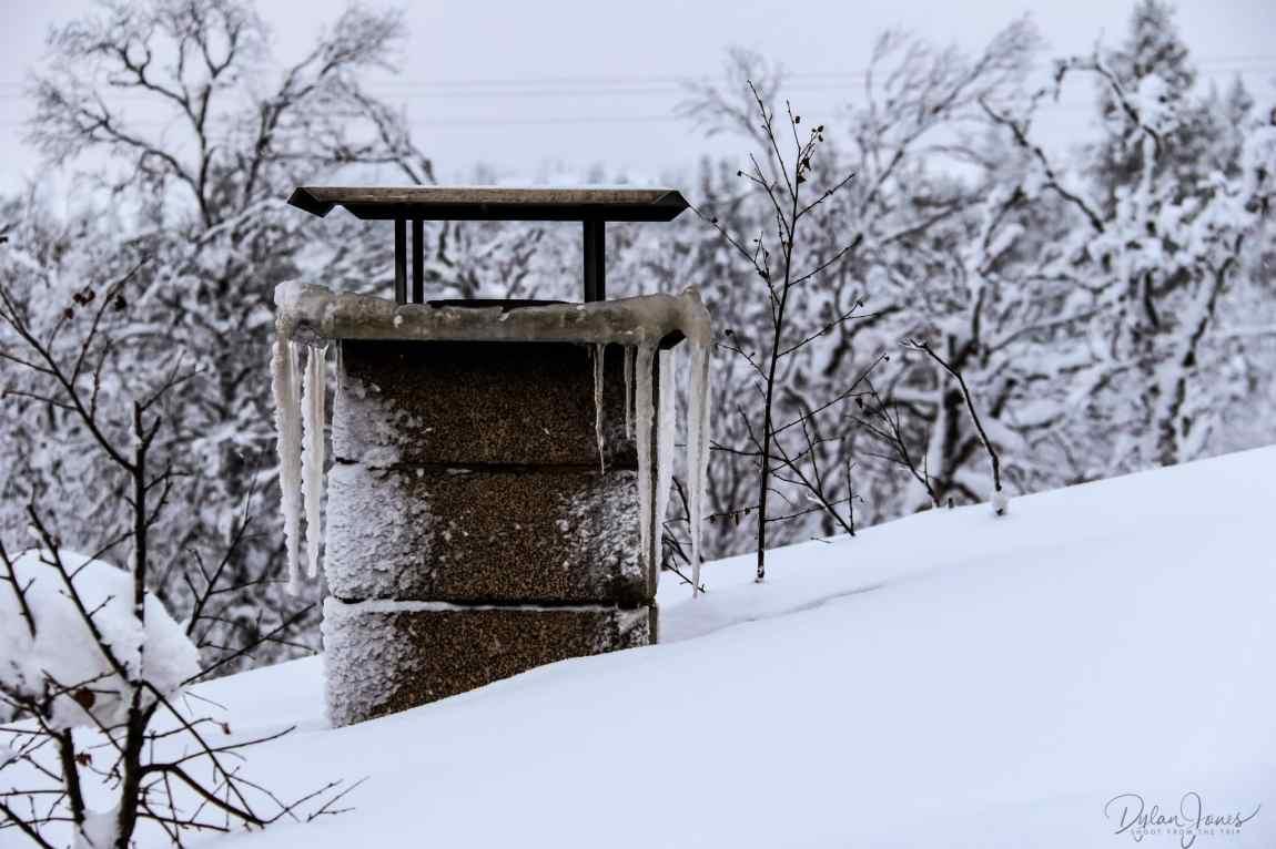 Chimney at the Kiilopää Smoke Sauna Saariselkä Lapland
