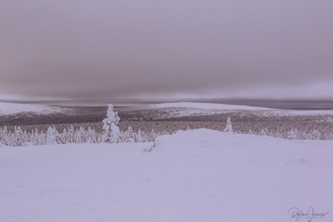 From one fell to another. The fell in the distance was near the start point Saariselkä Lapland