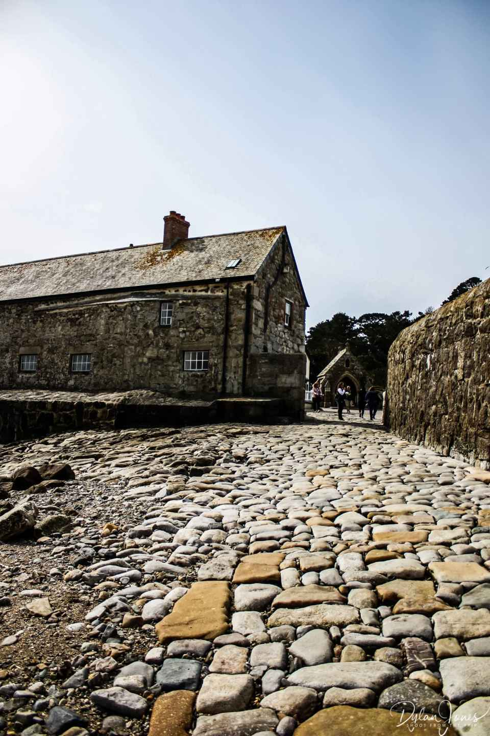 The cobbled entrance to St. Michael's Mount, South Cornwall coast