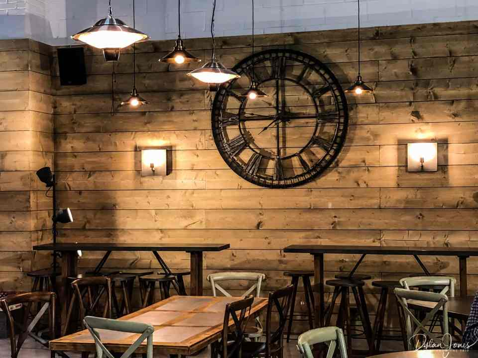 The stylish Tap Room at Double-Barrelled Brewery