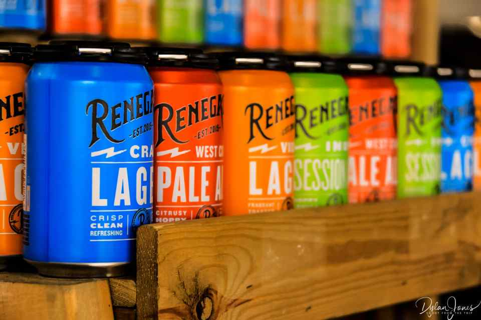 The Renegade range of lagers and pale ales at West Berkshire Brewery