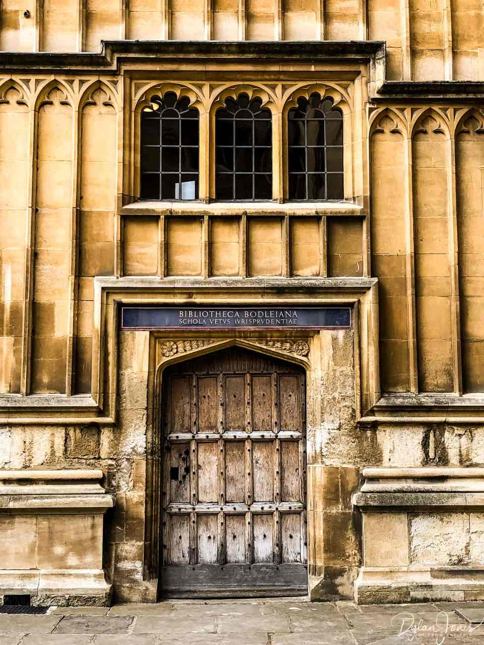 A doorway to the Bodleian Library