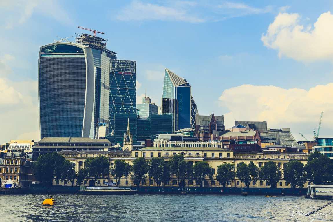 The City of London skyline